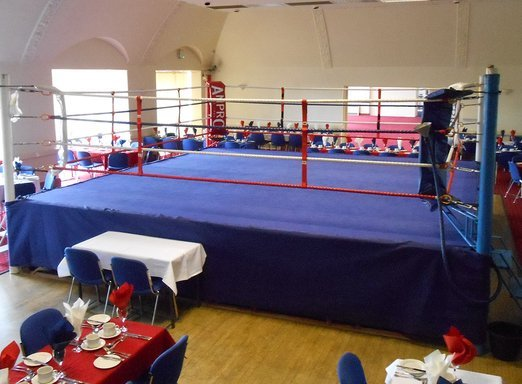 Boxing in the Upstairs Ballroom at Imber Court