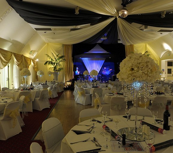 Wedding celebration in the Ballroom at Imber Court