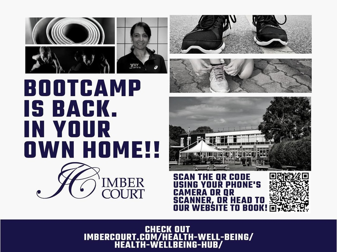 Poster advertising the Imber Court Boot Camp