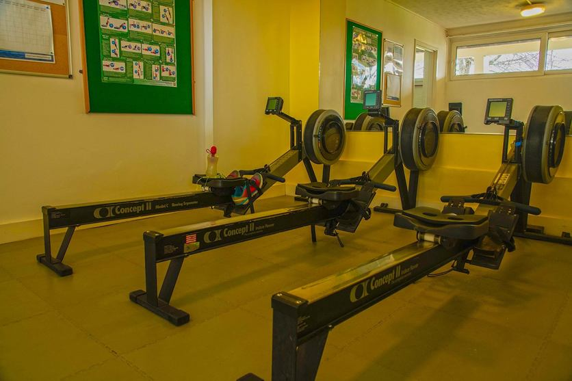 Rowing machines in the Imber Court Gym